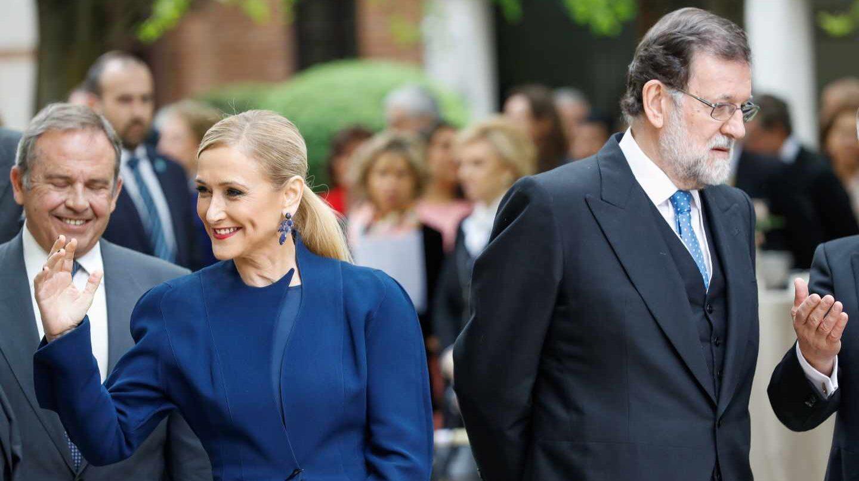 Cristina Cifuentes y Mariano Rajoy