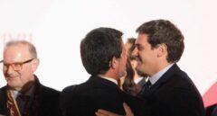 Manuel Valls y Albert Rivera, en los premios de Societat Civil Catalana.