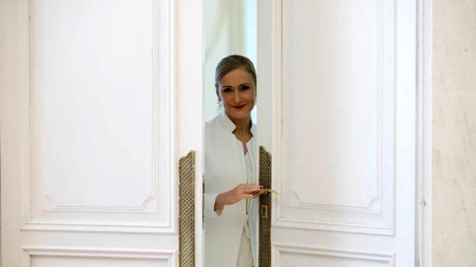 La ya ex presidenta de la Comunidad de Madrid Cristina Cifuentes