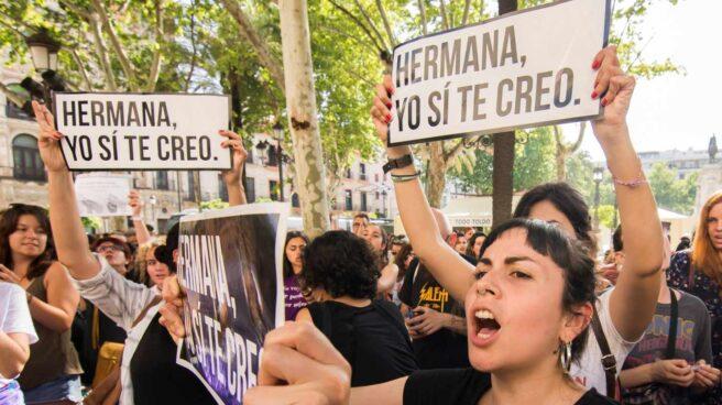 Concentraciones contra la sentencia de La Manada de Pamplona.