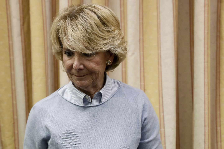 Esperanza Aguirre, en la Comisión del Congreso de los Diputados.