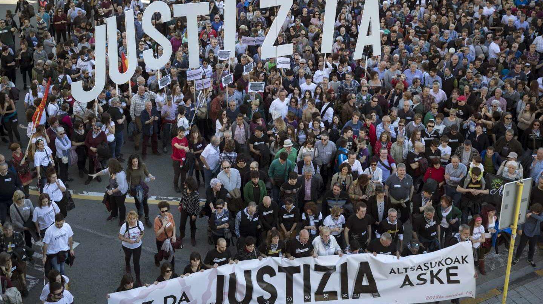 Manifestación en Pamplona en apoyo a los detenidos de Alsasua.