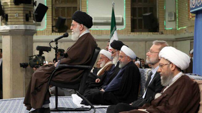 El líder supremo de Irán Ayatollah Ali Khamenei.