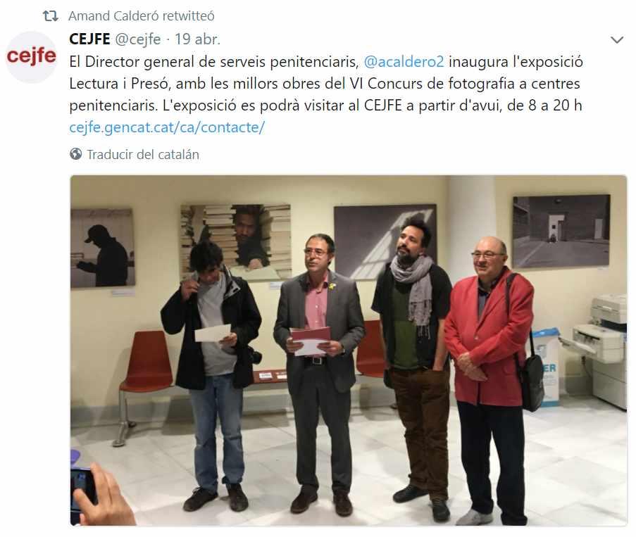 Calderón, en la inauguración de una exposición fotográfica el pasado 19 de abril.