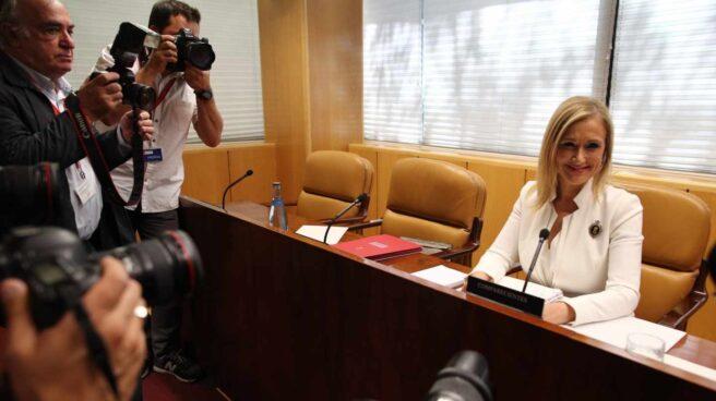 Cifuentes, cuando compareció en la comisión de investigación de la corrupción política en la Comunidad de Madrid el pasado mes de junio.