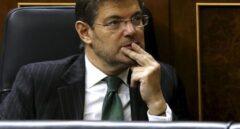 El ministro de Justicia, Rafael Catalá, en la sesión de control de este miércoles