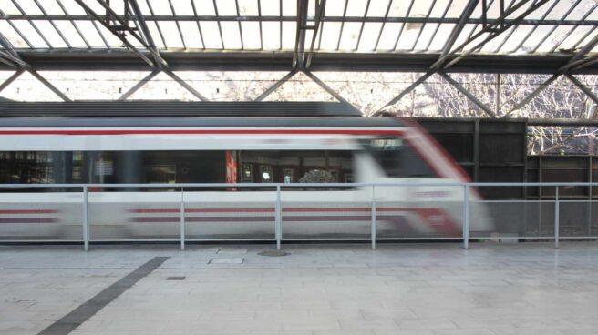 Tren de Cercanías en Madrid.