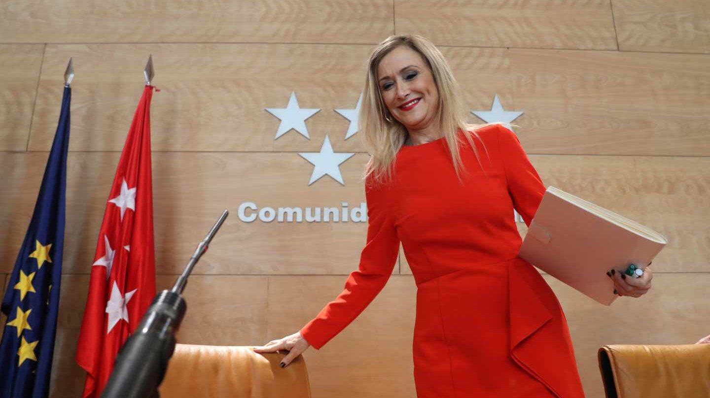 Cristina Cifuentes, en la rueda de prensa del Consejo de Gobierno.
