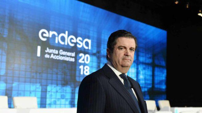 El presidente de Endesa, Borja Prado, en la junta de accionistas.