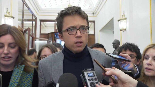 El diputado Iñigo Errejón, en el Congreso.