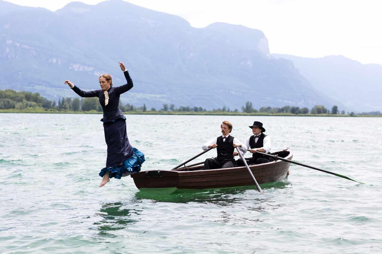 Fotograma de Lou Andrea-Salome con Nietzsche y Rée.