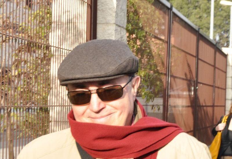 El ex director de la Guardia Civil, Luis Roldán, tras abandonar la prisión en el año 2010.