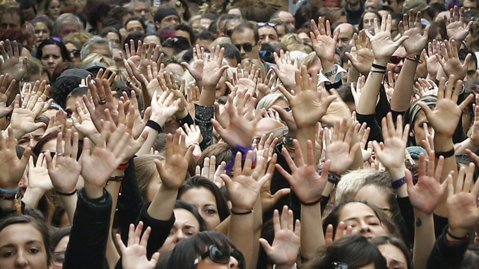 Manifestación en Pamplona contra la sentencia de La Manada.
