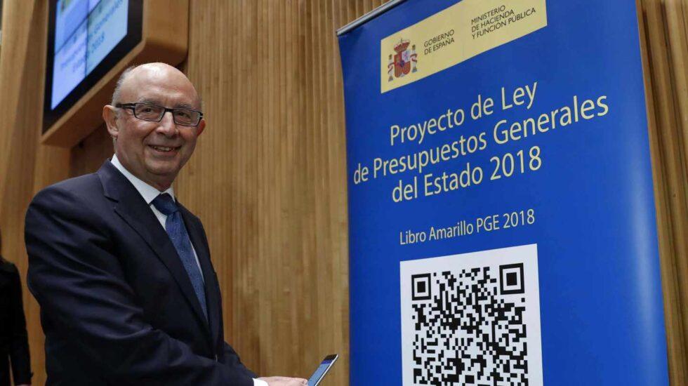 Cristóbal Montoro, durante la presentación en el Congreso del proyecto de Presupuestos.