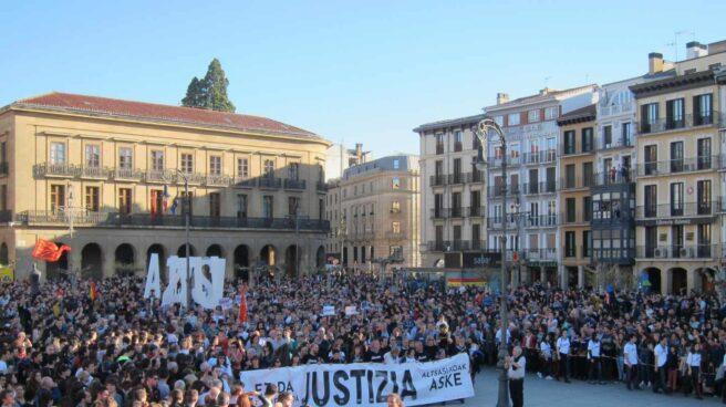Manifestación en Pamplona por los agresores de Alsasua.