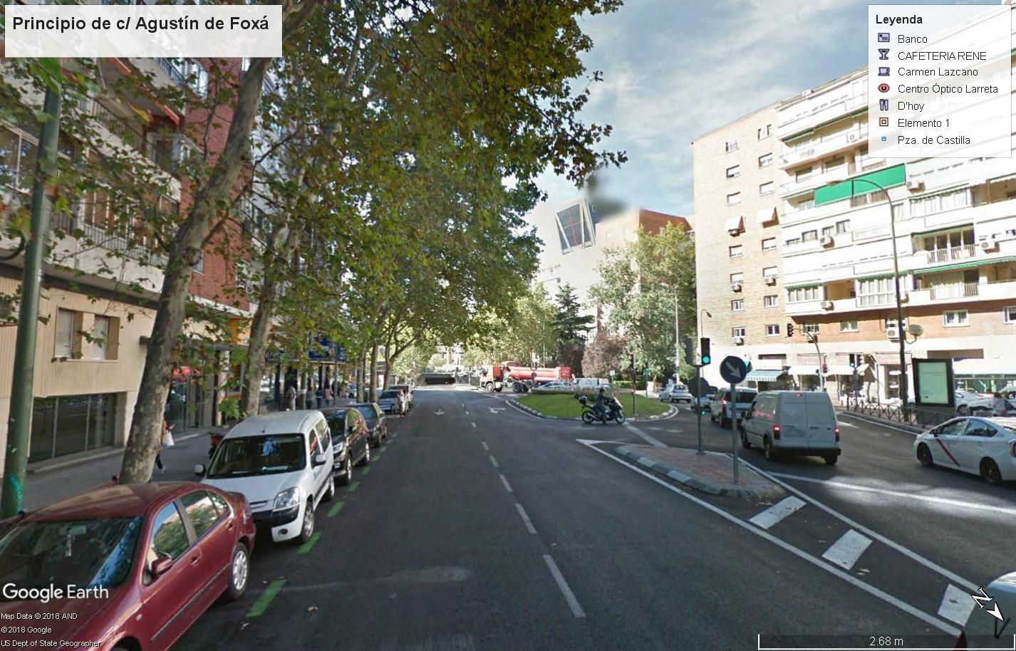 Actualmente, para ir desde Agustín de Foxá a Plaza de Castilla hay que dar un rodeo. Esto se pretende salvar con la nueva arteria.