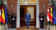 Mariano Rajoy, en el Palacio de la Moncloa.