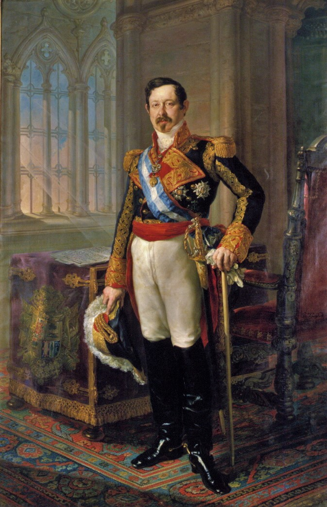 Ramón María Narváez, en un retrato pintado por Vicente López y Portaña.