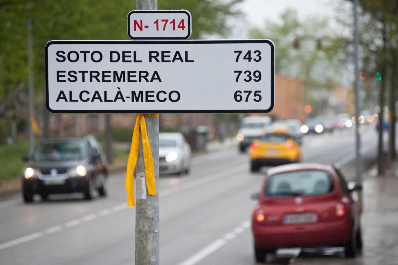 Las señales kilométricas de las cárceles en carreteras de Cataluña.