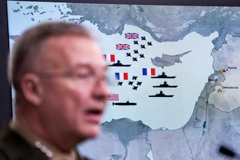 Rueda de prensa en el Pentágono sobre el ataque a Siria.