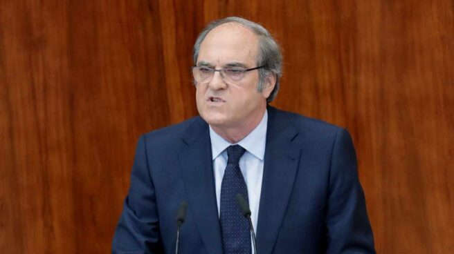 El líder del PSOE madrileño, Ángel Gabilondo, en la Asamblea de Madrid.