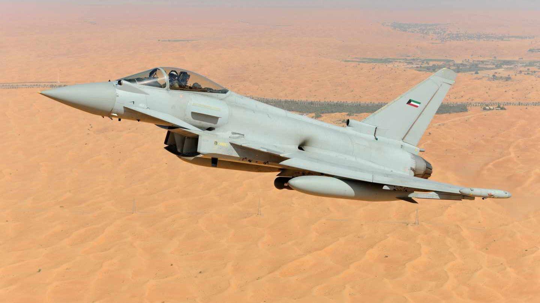Avión de combate Eurofighter.
