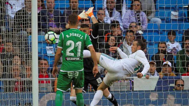 Gareth Bale anota contra el Leganés.