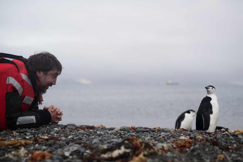 El actor durante su expedición a la Antártida.
