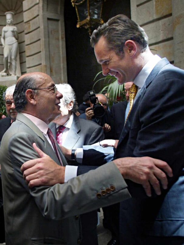 Iñaki Urdangarín y Fèlix Millet en un homenaje al presidente del Palau de la Música en 2005.