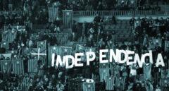 Protesta en el Camp Nou a favor del procés.