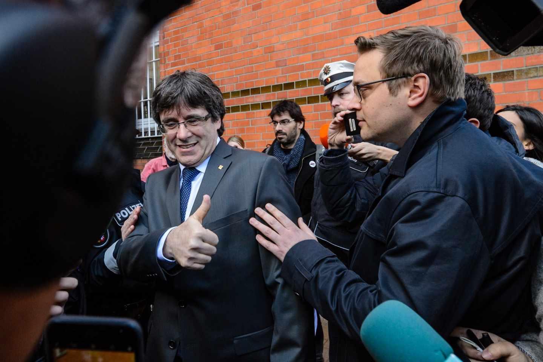 Carles Puigdemont, este viernes tras abandonar la prisión de Neumünster.