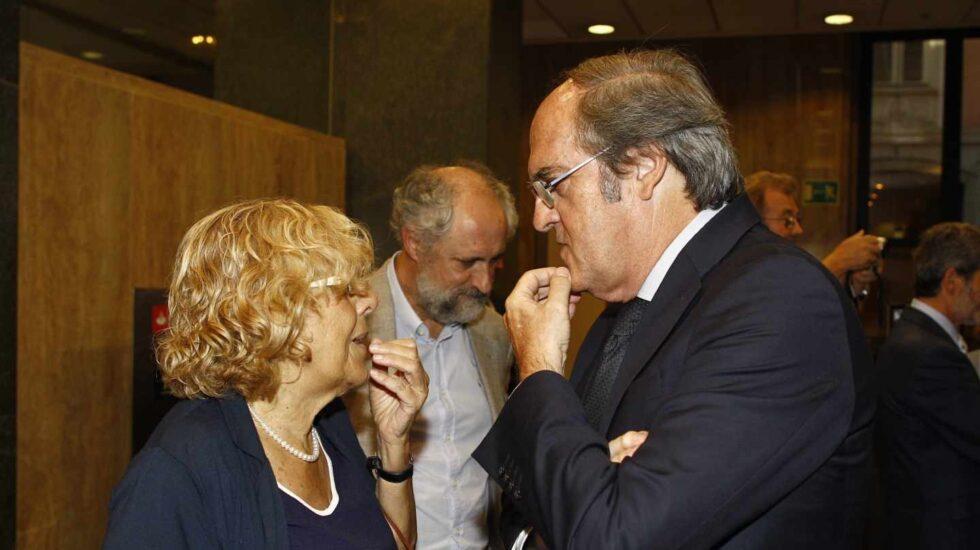Carmena y Ángel Gabilondo, candidata a reeditar la alcaldía de Madrid y candidato a la Comunidad de Madrid, respectivamente.