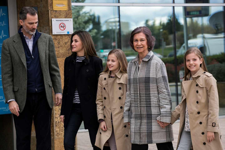 El Rey Felipe, la Reina Letizia, doña Sofía y las infantas.