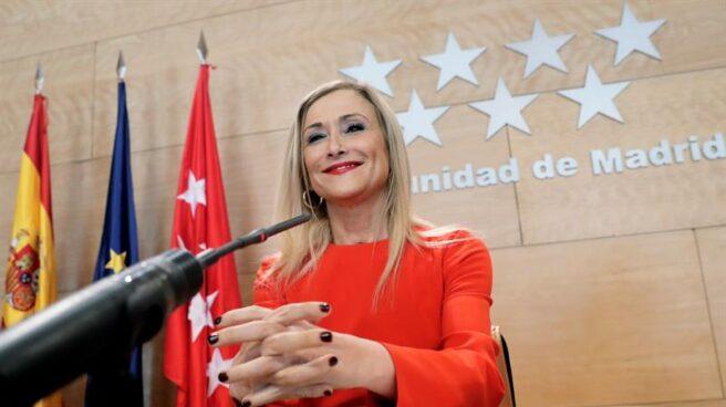 Cristina Cifuentes, durante su etapa como presidenta de la Comunidad de Madrid.