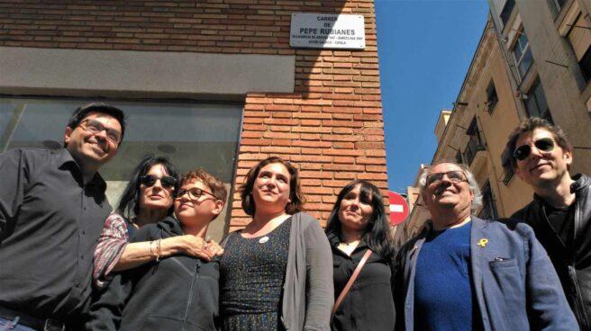 Ada Colau, en la inauguración de la Calle Rubianes de Barcelona.