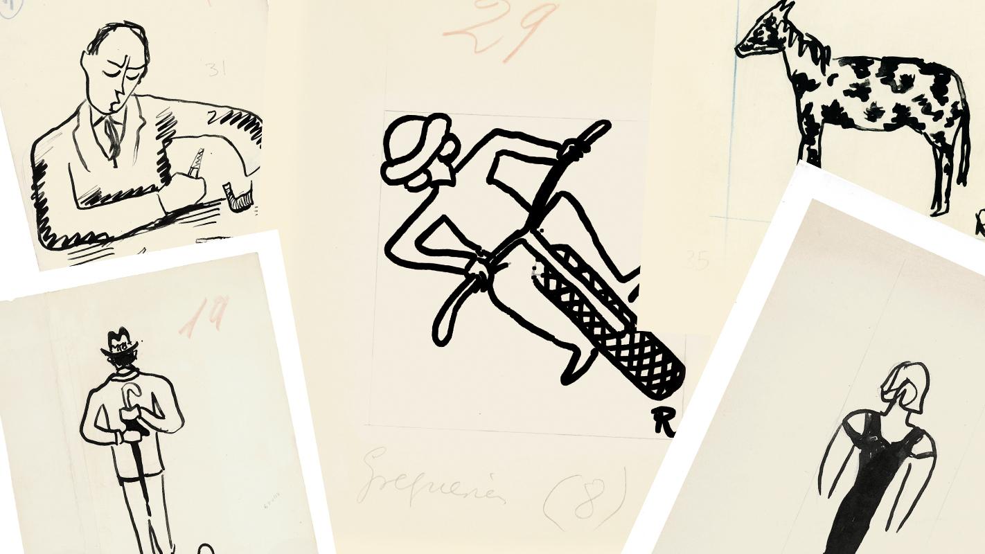 Ilustraciones de las greguerías de Ramón Gómez de la Serna