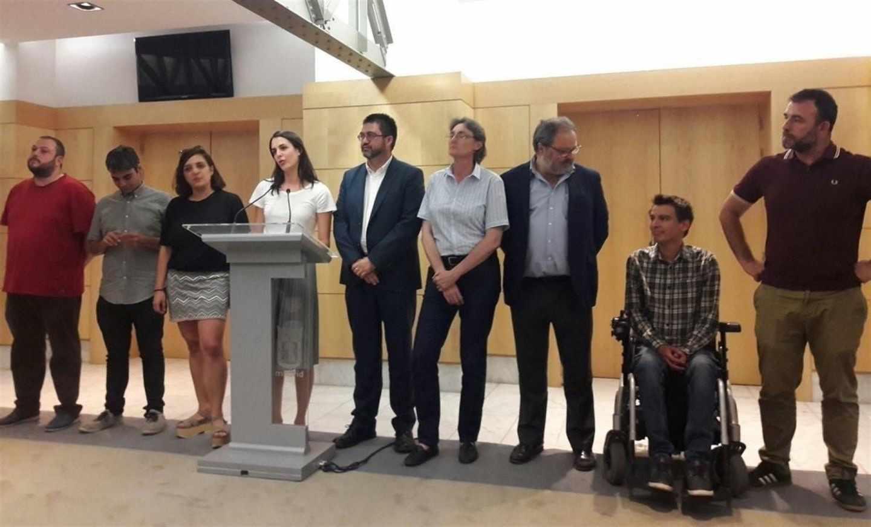 Concejales de Ahora Madrid, en el Ayuntamiento.