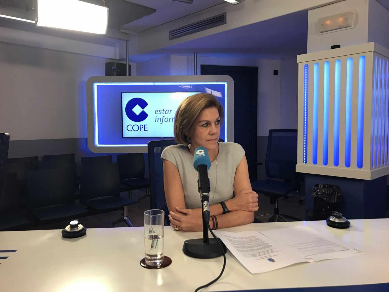 La ministra de Defensa, María Dolores de Cospedal, en la Cadena Cope.