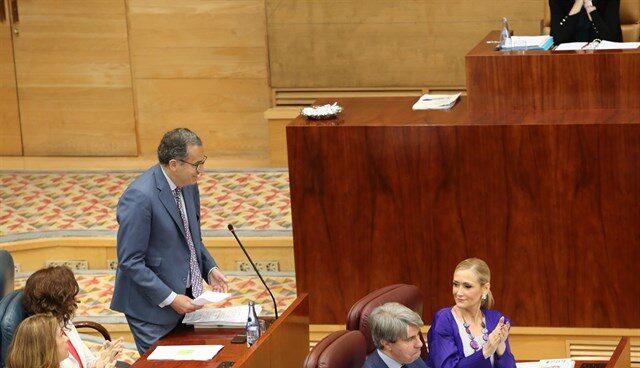 El portavoz del PP en la Asamblea de Madrid, Enrique Ossorio.