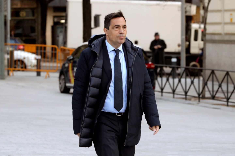 El ex director de los los Mossos d'Esquadra Pere Soler, a su llegada a la Audiencia Nacional.
