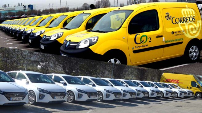 Flotas de coches corporativos eléctricos.
