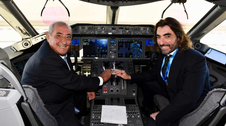 El presidente de Globalia, Juan José Hidalgo, y el consejero delegado del grupo, Javier Hidalgo.