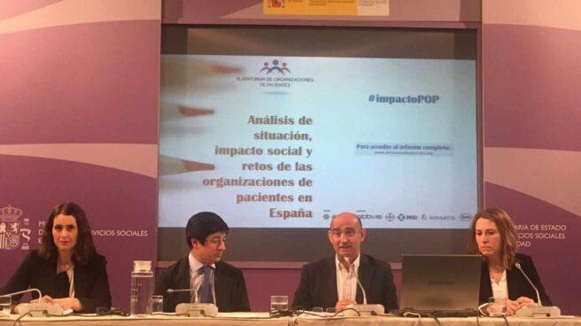 Presentación de un estudio de la plataforma de organizaciones de pacientes con la colaboración de varios laboratorios farmacéuticos.
