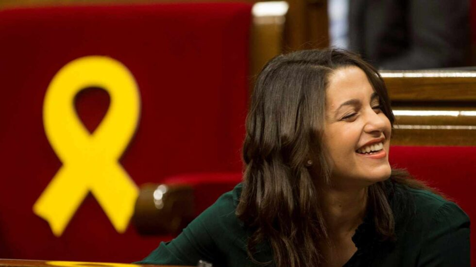 Inés Arrimadas, en el Parlament de Cataluña.