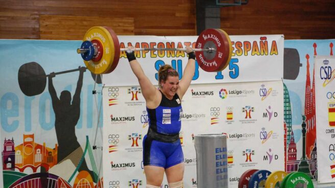 Irene Blanco, poseedora de tres récords de Europa, durante el Campeonato de España de 2017.