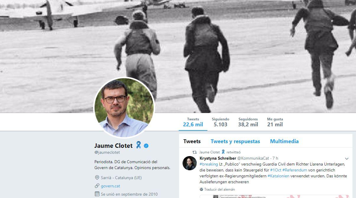 El exjefe de prensa de Carles Puigdemont, Jaume Clotet.