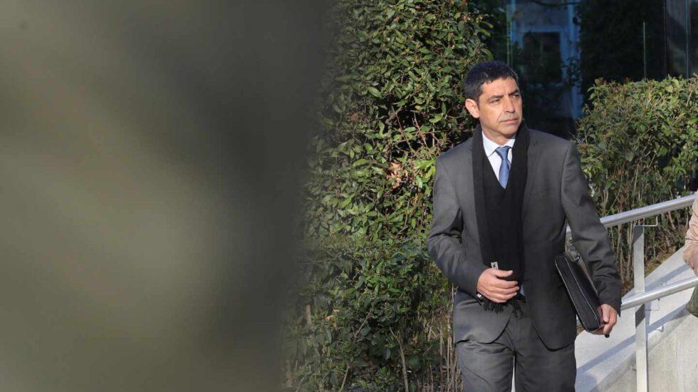 El ex mayor de los Mossos, Josep Lluís Trapero, a su salida de la Audiencia Nacional.