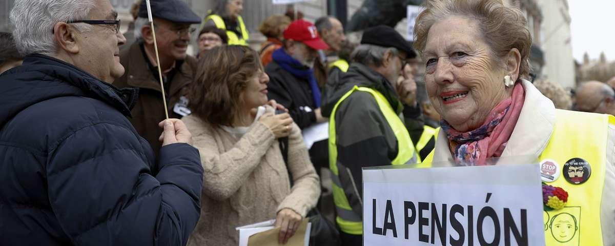 Concentración de protesta por la situación de las pensiones.