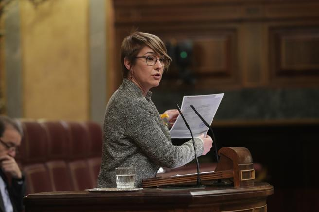 La diputada del PDeCat, Lourdes Ciuró, en el Congreso.