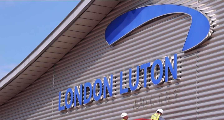 El aeropuerto de Londres-Luton.